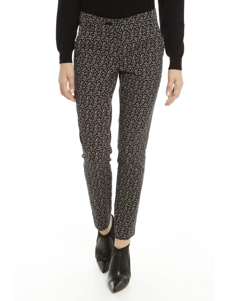 Pantaloni jacquard slim