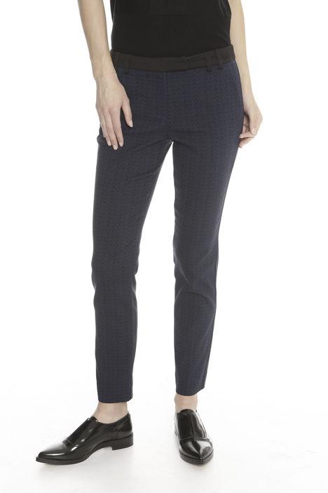 Pantaloni aderenti jacquard