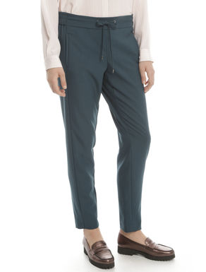 Pantalone in diagonale fluido