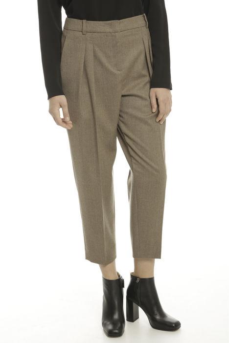 Pantalone tinto filo in lana