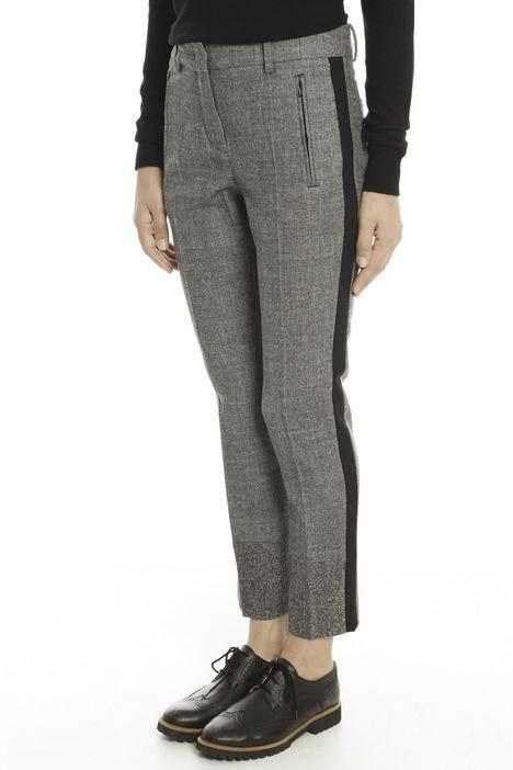Pantaloni tinto filo in lana