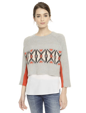 Pullover cropped boxy