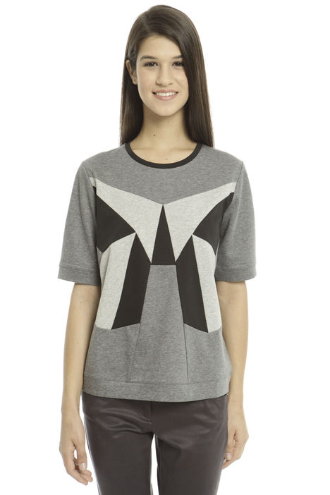 T-shirt boxy in jersey