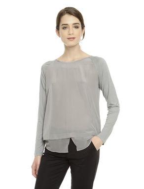 T-shirt in doppio tessuto