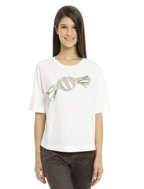 T-shirt con zip