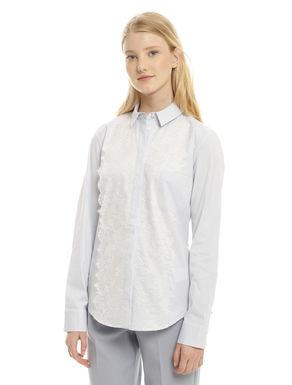 Camicia in cotone con pizzo