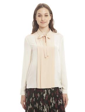 Camicia in seta bicolore