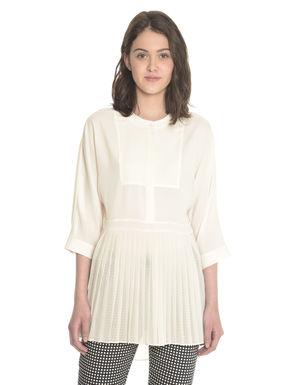 Camicia lunga con plissè