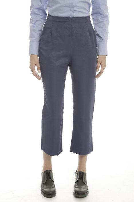 Pantaloni cropped in ottoman