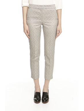 Pantalone in jacquard stretch