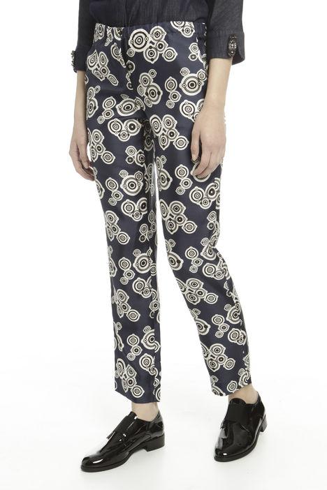 Pantalone in twill di seta