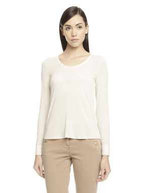 T-shirt in misto cashmere