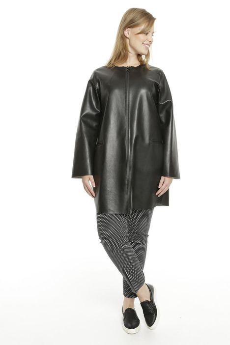 Giacca in similpelle con zip