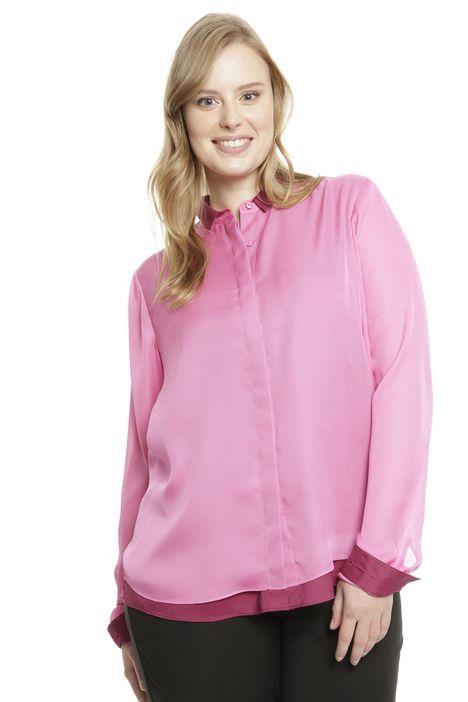 Camicia bicolore in georgette