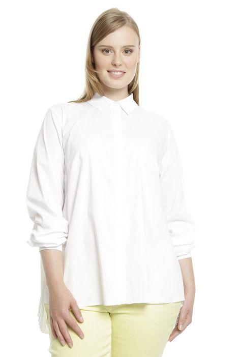 Camicia con inserto plissé