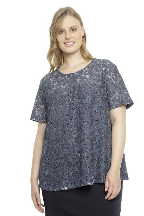 T-shirt in pizzo stampato