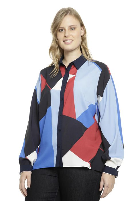 Camicia multicolore