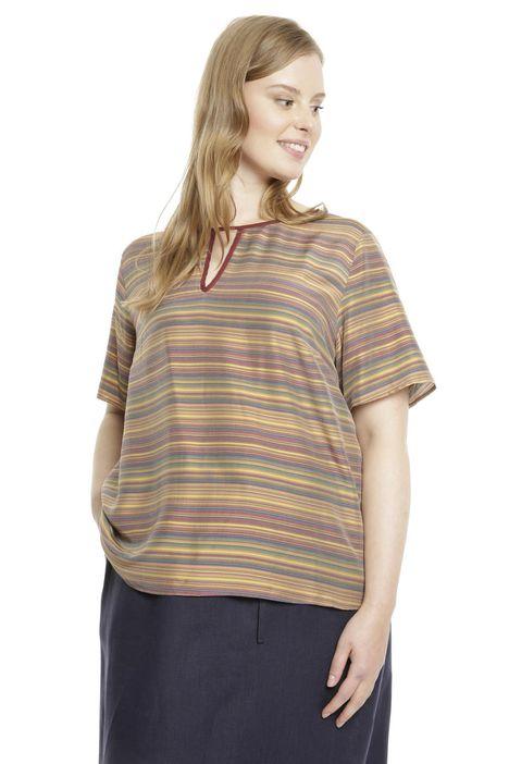 T-shirt in seta misto viscosa