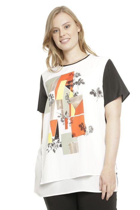 Camicia con inserto stampato