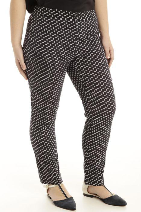 Pantalone stretch fantasia