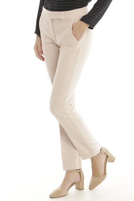 Pantaloni in crepe di lana