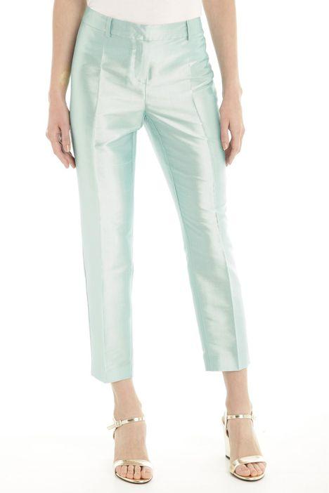 Pantaloni in shantung di seta