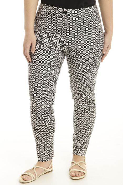Pantalone comfort jacquard