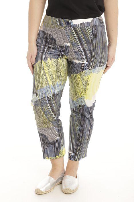 Pantalone in raso stampato