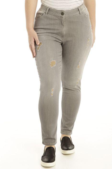 Jeans con rovinatura