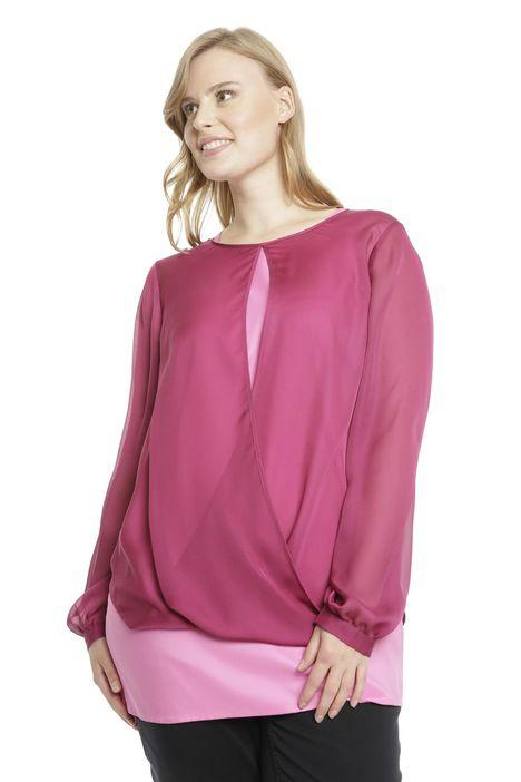 Blusa in georgette con top