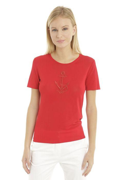 T-shirt in viscosa fine