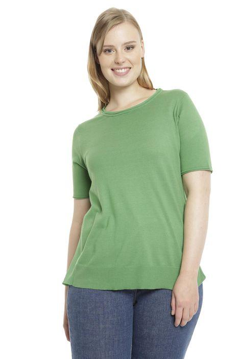 T-shirt con inserti in crepe