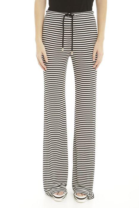 Pantaloni a zampa in viscosa