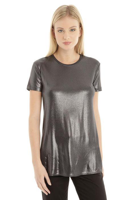 T-shirt in viscosa e lurex