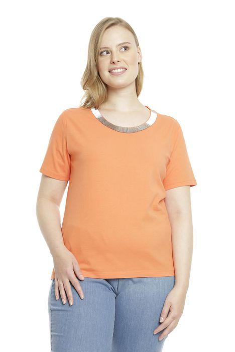 T-shirt in jersety con ricamo