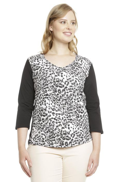 T-shirt animalier in jersey