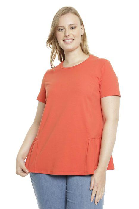 T-shirt in cotone con balza