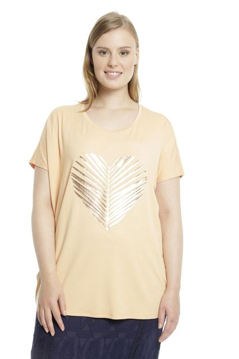 T-shirt over con stampa