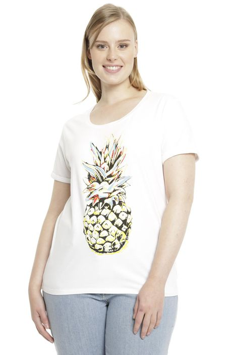 T-shirt in jersey stampato