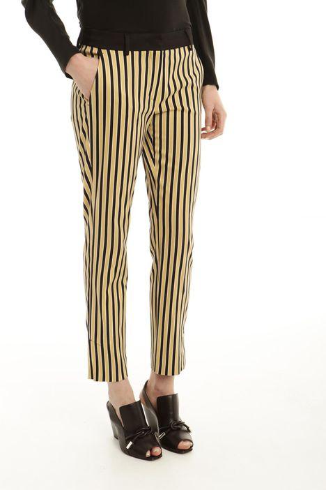 Pantalone in raso a fantasia