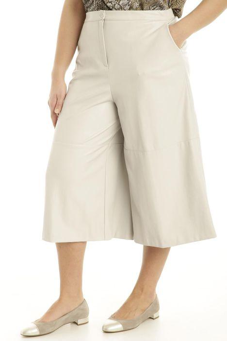Pantaloni effetto nappa