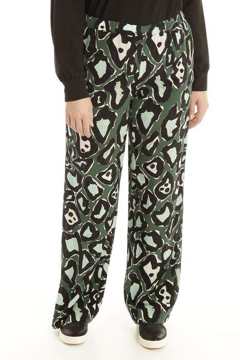 Pantalone in seta stampata