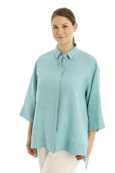 Camicia ampia in lino