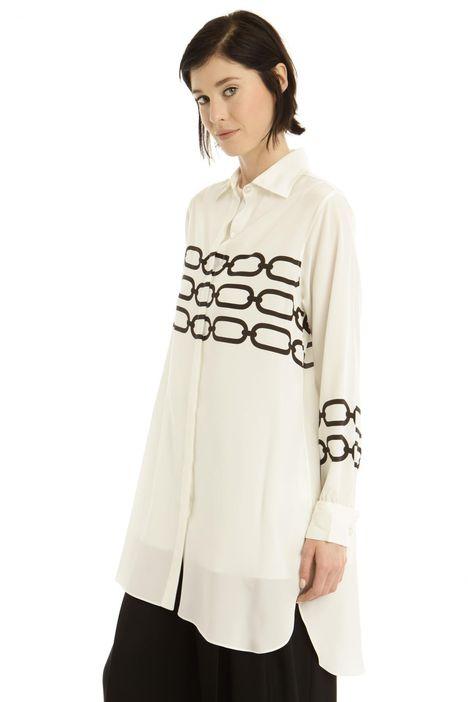 Camicia in seta con canotta