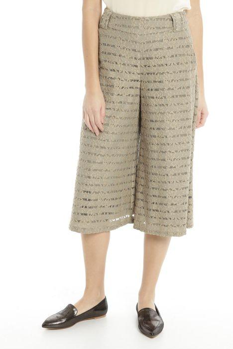 Pantaloni in pizzo rigato