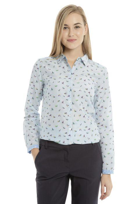 Camicia in jacquard di cotone