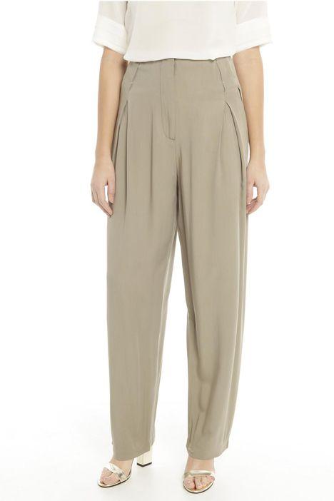 Ampi pantaloni in viscosa