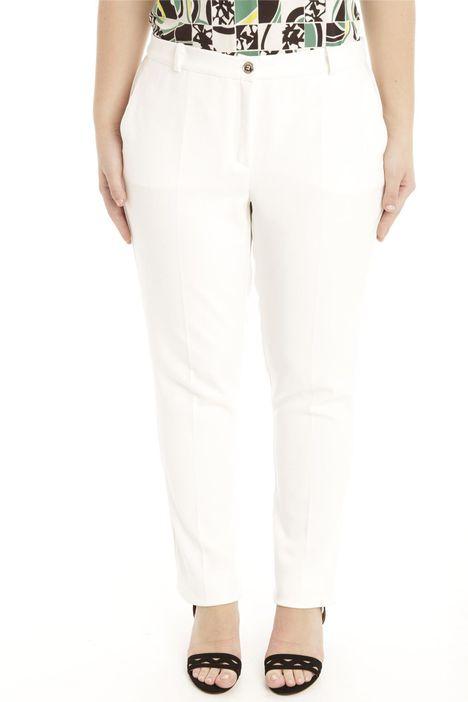 Pantalone in cotone crepe