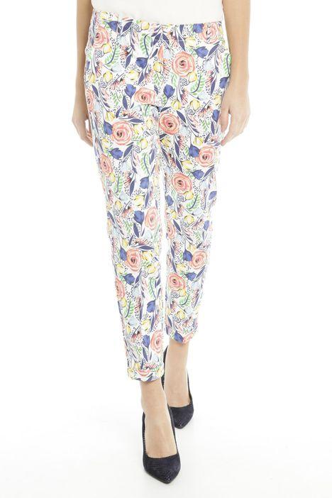 Pantaloni fantasia in piquet