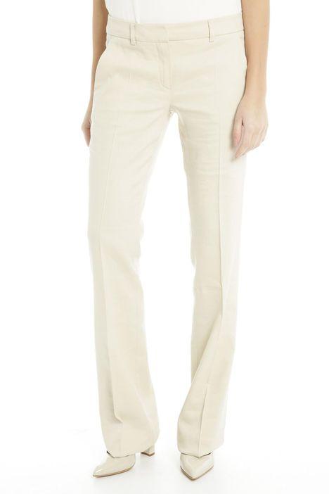 Pantaloni in lino e viscosa